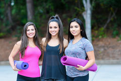 Group Fitness Workout stock images