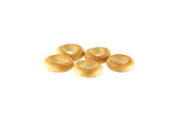 A group of five bagels. Royalty Free Stock Photography