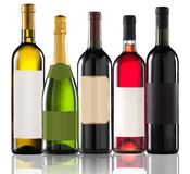Group of five bottles Stock Images