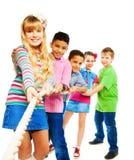 Winning kids pull royalty free stock photography