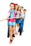 Kids pulling rope Royalty Free Stock Image