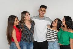 Group of Five Hispanic Teenagers stock photo