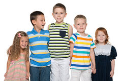 Group of five joyful children Royalty Free Stock Photo