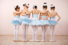 Group of five little ballerinas Stock Image