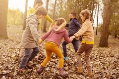 Children playing in the park. stock photography