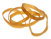 Isolated Rubber Bands Royalty Free Stock Images
