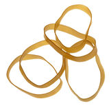 Isolated Rubber Bands Royalty Free Stock Photos