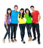 Group of five teenager Stock Images