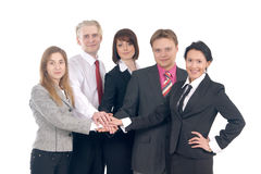 A group of five young business people Royalty Free Stock Photo