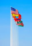 Group of flags Royalty Free Stock Images