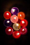 Group of flame color candle Stock Image