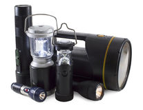 Group of flashlights Royalty Free Stock Image