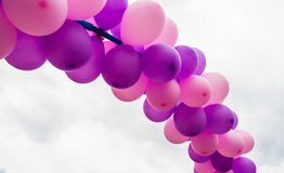 Group of floating balloons Royalty Free Stock Images