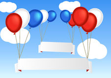Group of flying air balloon Royalty Free Stock Photo