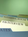 Employment Applications on File Royalty Free Stock Photography