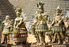 Group of food warriors statues, EXPO 2015 Milan Royalty Free Stock Photo