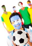 Group of footballs fan Royalty Free Stock Photo