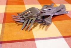 Group of forks Stock Photo