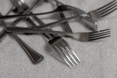 Pile of forks stock images
