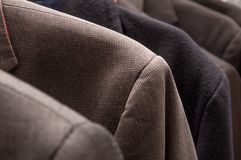 Group of formal jackets royalty free stock photos