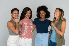Group Of Four Minority Friends Royalty Free Stock Photo