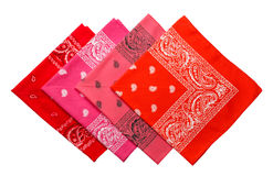Group of four bandannas Stock Images