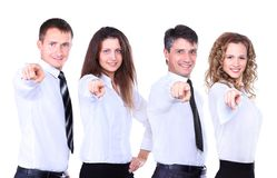 Group of four business people Royalty Free Stock Photo