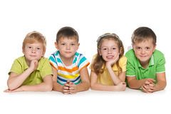 Group of four cheerful children Royalty Free Stock Photography