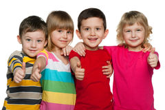 Group of four children Stock Photography