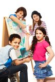 Four very creative kids Royalty Free Stock Images