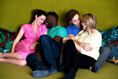 Group of four friends having fun Stock Photography