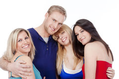 Group of four friends smiling Royalty Free Stock Image