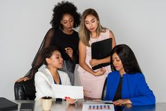 Group Of Four Businesswomen Royalty Free Stock Photography