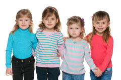 Group of four little girl Royalty Free Stock Photography