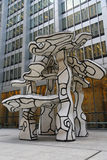 Group of Four Trees sculpture by Jean Dubuffet in the front of Chase Building in Lower Manhattan Royalty Free Stock Images