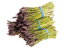 Group of fresh asparagus bundles Royalty Free Stock Image