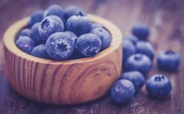 Group of fresh blueberries Stock Photos