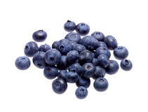 Group of fresh blueberries. Isolated on white background Stock Images