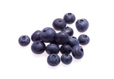 Group of fresh blueberries. Isolated on white background Royalty Free Stock Photos