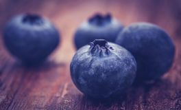 Group of fresh blueberries Stock Photo