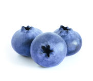 Group of Fresh Blueberries on the White Background Royalty Free Stock Photography