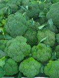 Group of fresh broccoli. On a market place Royalty Free Stock Image