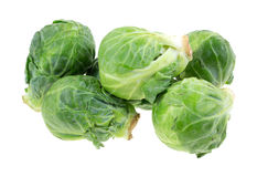Group of fresh Brussels sprouts on white background Royalty Free Stock Image