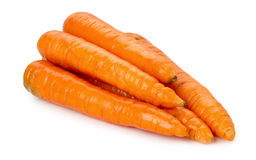 Group of fresh carrots isolated on white background Stock Image