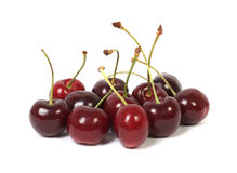 Group of fresh cherries Stock Image