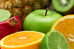Group of fresh fruits Stock Images