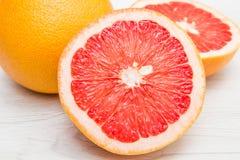 Group of fresh grapefruit Stock Photos