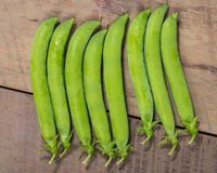 Group of fresh green pea pods Stock Photography