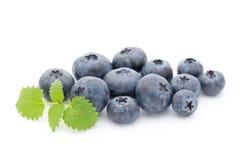 Group of fresh juisy blueberries isolated on white background. Stock Photo