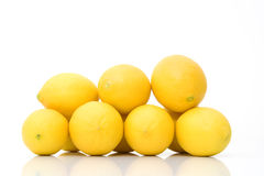 Group of fresh lemons royalty free stock photo